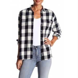 Madewell Plaid Oversized Flannel Top